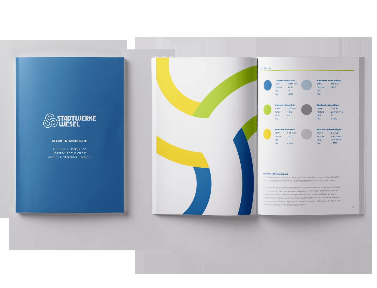 Stadtwerke Wesel corporate branding Markenhandbuch