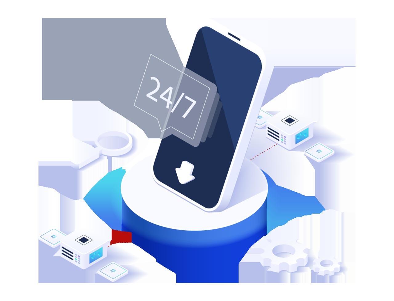 illustration mobiltelefon